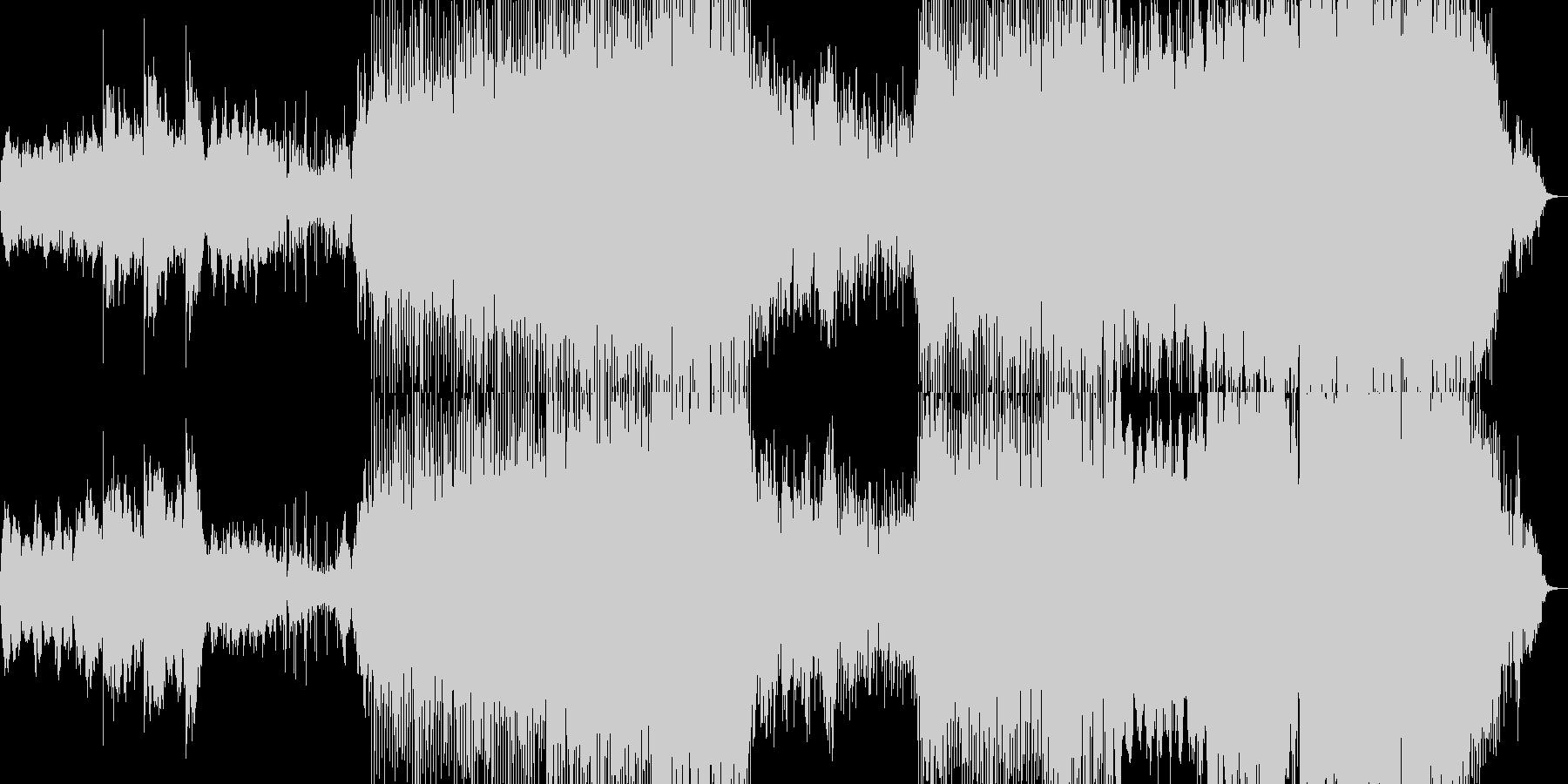 素朴なちょっと中華風の曲の未再生の波形