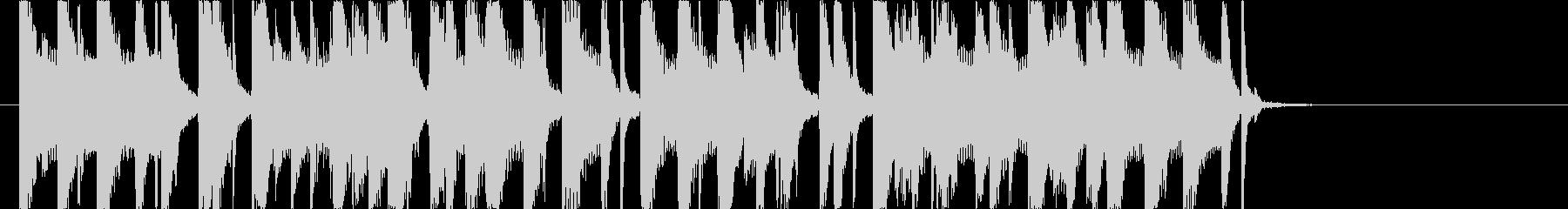 オシャレで切ないレゲエジングルの未再生の波形