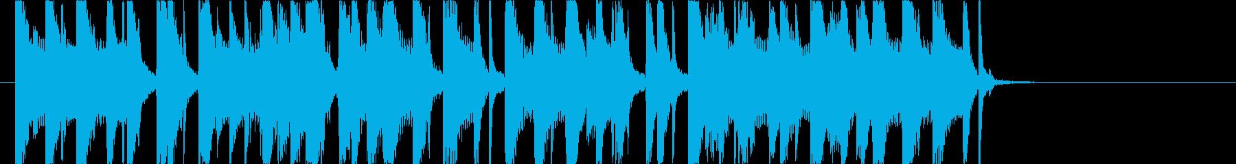 オシャレで切ないレゲエジングルの再生済みの波形