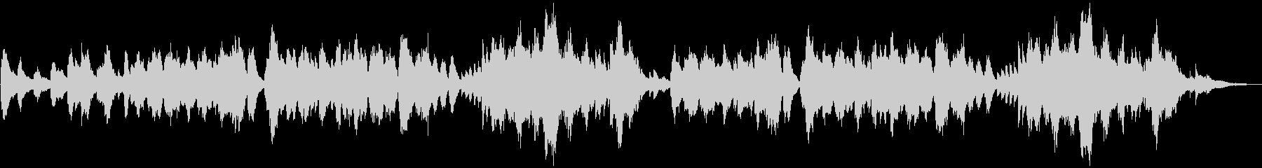 森・洞窟・神社 神秘的で仄暗いピアノの未再生の波形