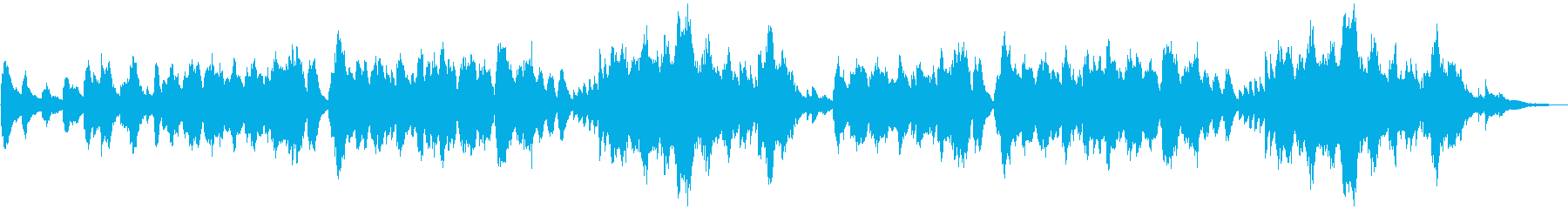 森・洞窟・神社 神秘的で仄暗いピアノの再生済みの波形