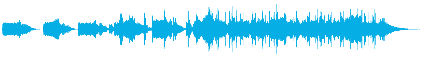 ハミングから始まる美しい曲の再生済みの波形
