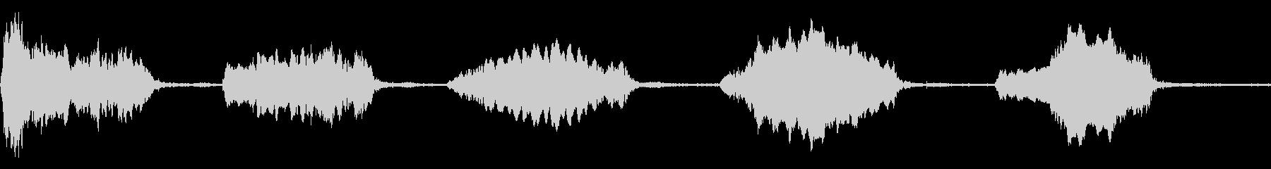 ウルフハウルシングルx5、鳥とケージの未再生の波形