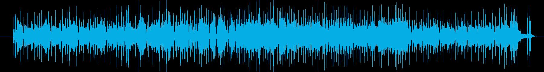 軽快なポップス(ガイドメロディ付き)の再生済みの波形