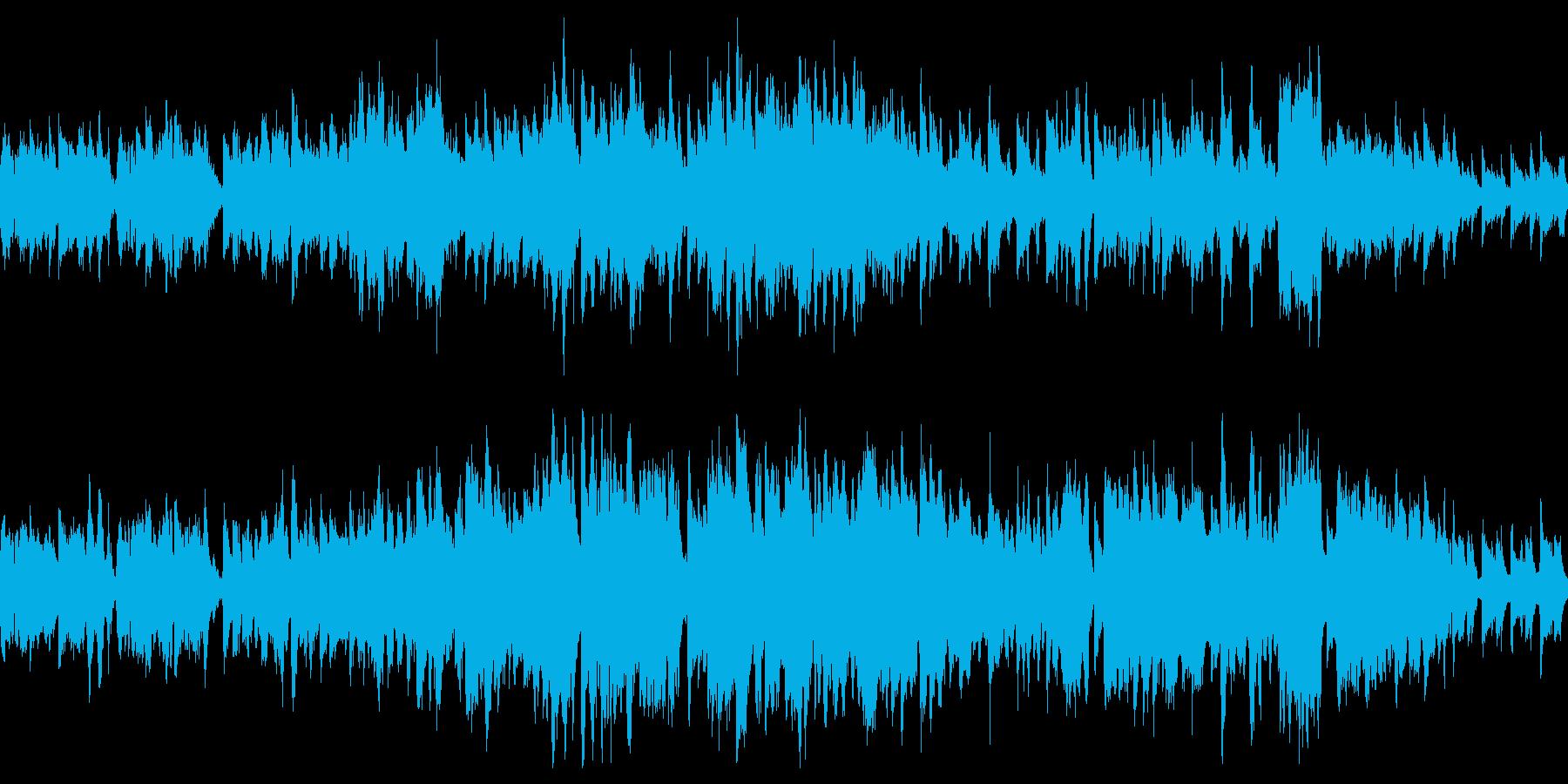 ヨーロピアン、哀愁のあるワルツの再生済みの波形