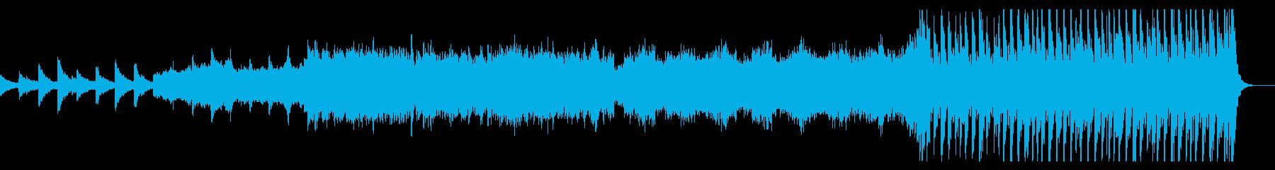 ダークで緊迫感と疾走感のある前向きな曲 の再生済みの波形