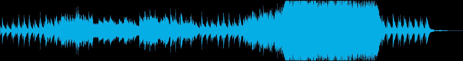 シリアスかつ悲しい雰囲気の曲の再生済みの波形