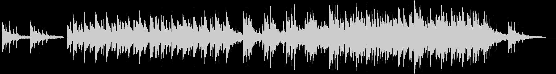 切ない旋律のピアノの未再生の波形