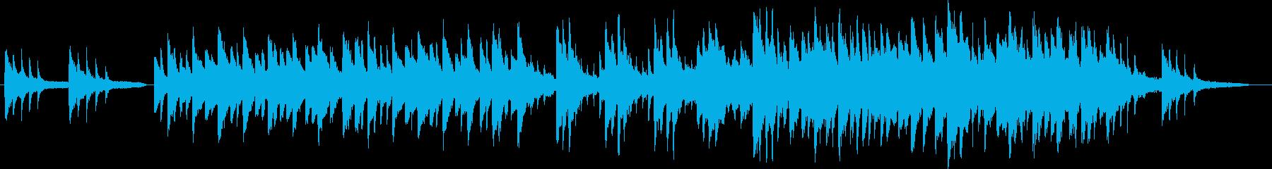 切ない旋律のピアノの再生済みの波形