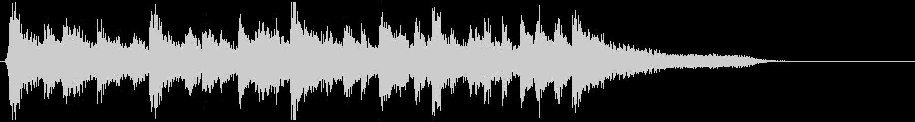 ウクレレ、穏やかサーフミュージック系ロゴの未再生の波形