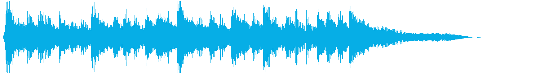 ウクレレ、穏やかサーフミュージック系ロゴの再生済みの波形
