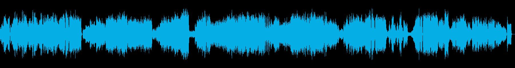 のどかな田園風の曲の再生済みの波形