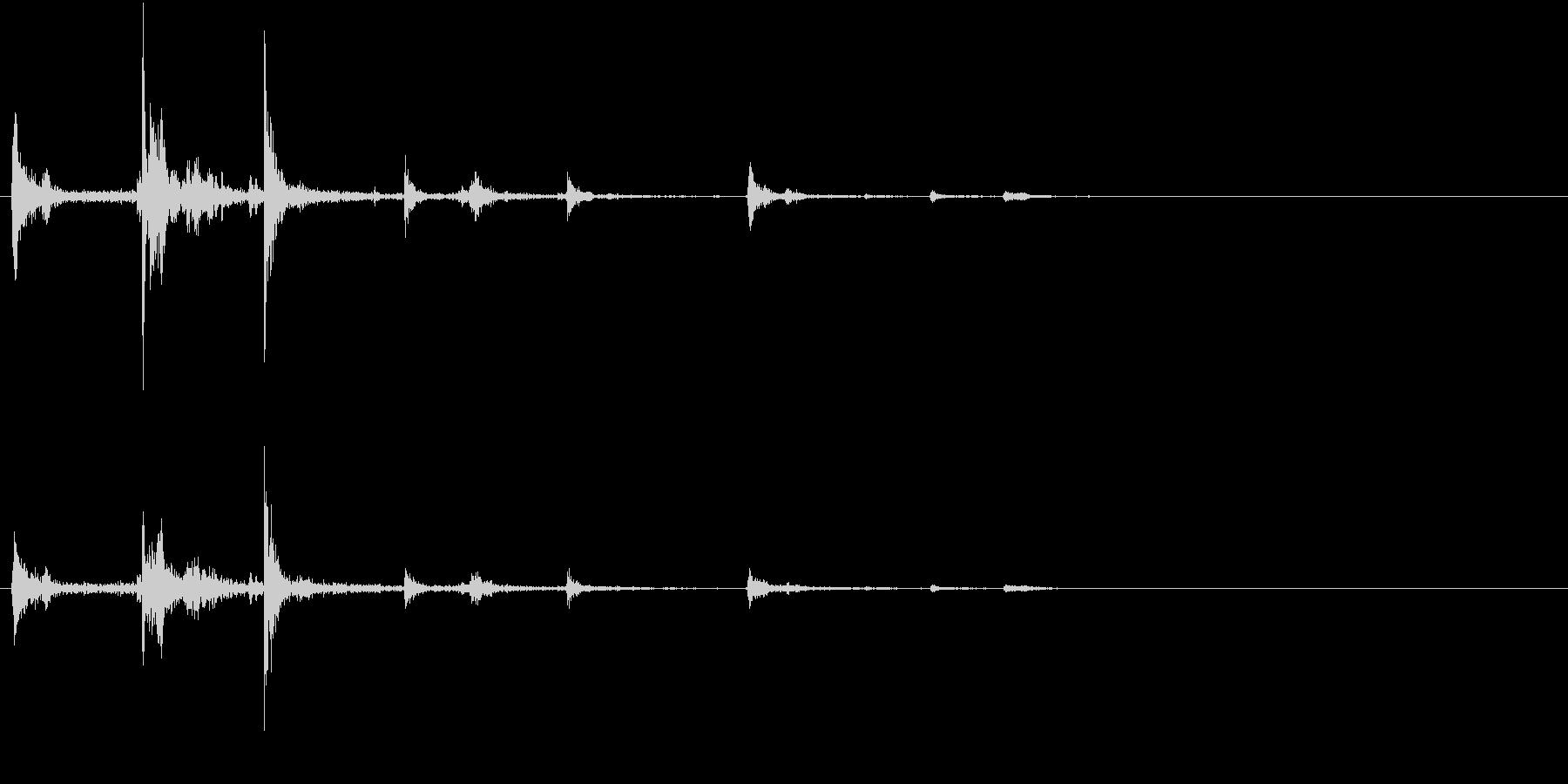 【生録音】ハンガーの音 8 スライドするの未再生の波形