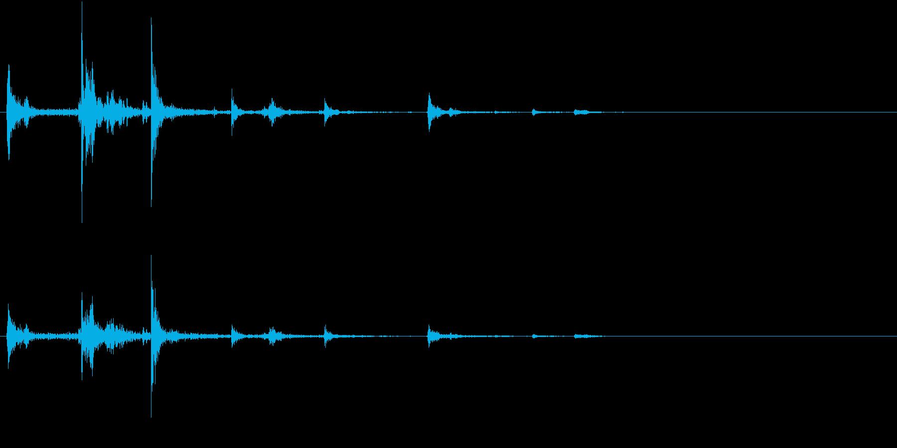 【生録音】ハンガーの音 8 スライドするの再生済みの波形