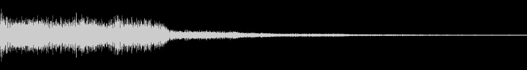 重低音で迫力あるメロディーの未再生の波形