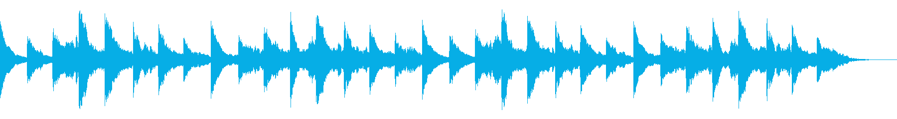 ノスタルジックな場面のハーモニカの再生済みの波形