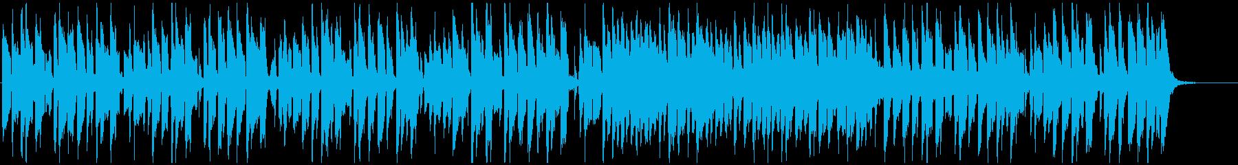 シンプルなリコーダー、ゆるいコメディ劇伴の再生済みの波形