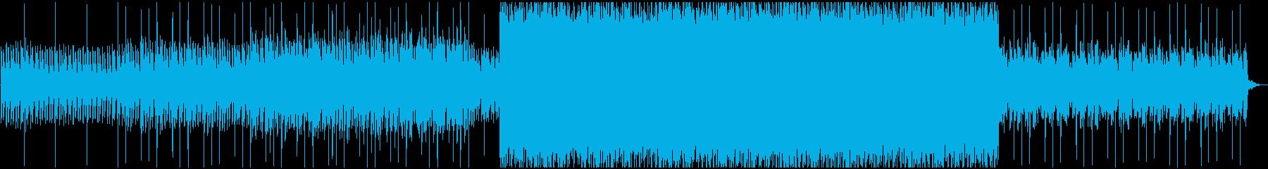 風景シーンなどに合うミニマル型幻想BGMの再生済みの波形