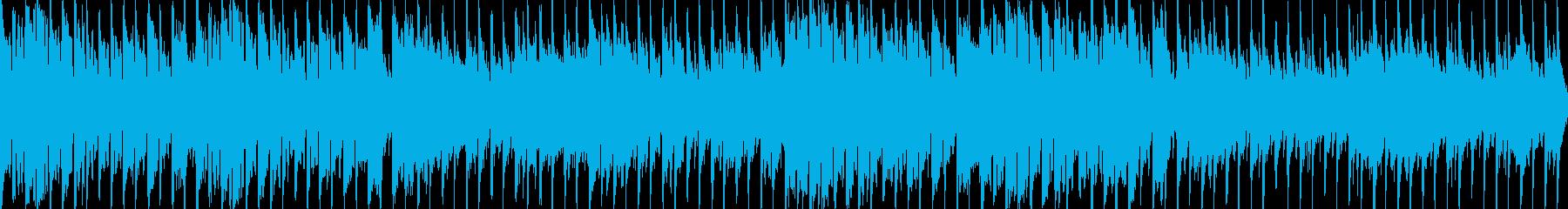 異国感のある民族風ループBGMの再生済みの波形