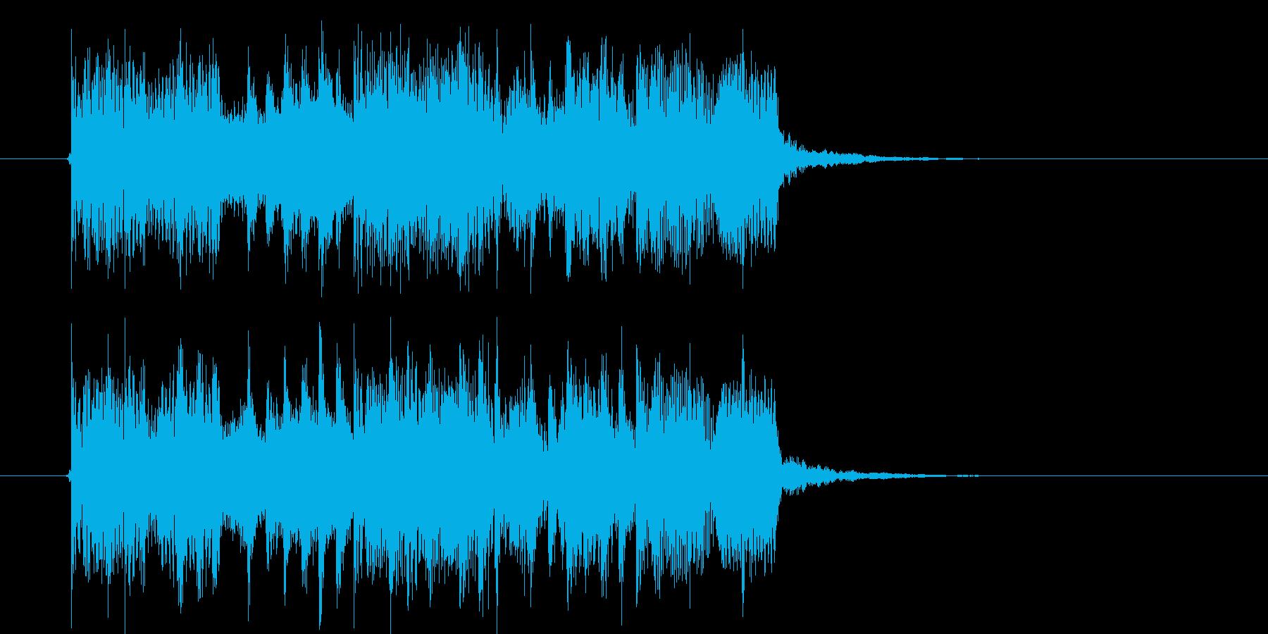 クールなグルーヴ感のあるテクノのジングルの再生済みの波形