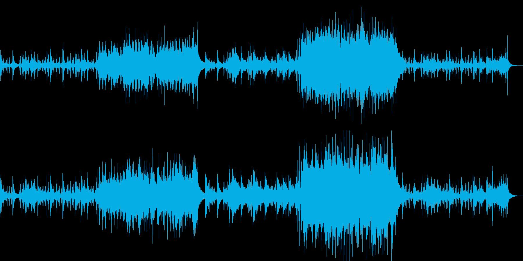 悲しい雰囲気のピアノソロ曲の再生済みの波形