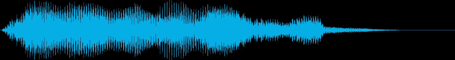 ホラー・サスペンス用音源の再生済みの波形