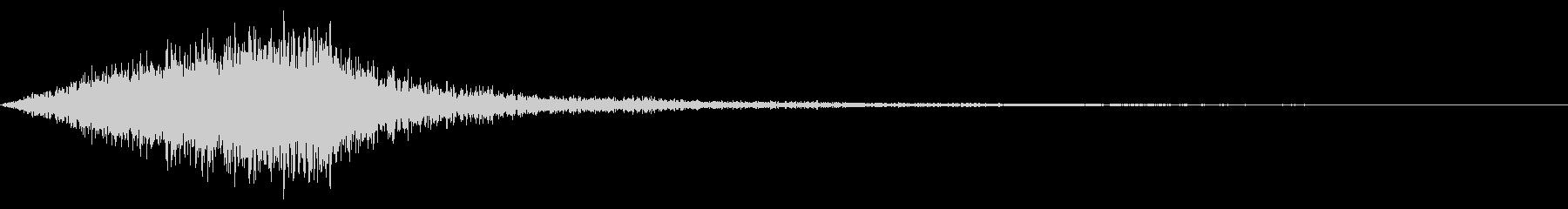 ホラー系アタック音31の未再生の波形