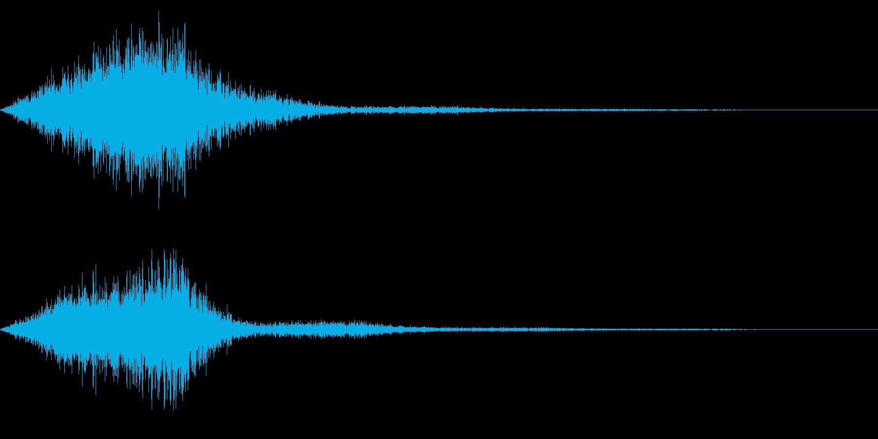 ホラー系アタック音31の再生済みの波形