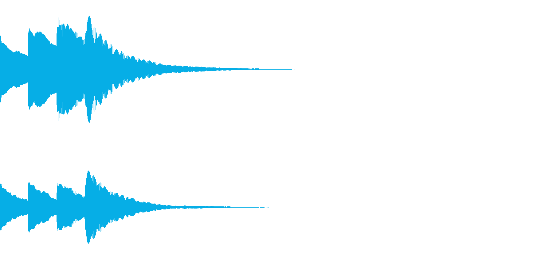 お知らせ・アナウンス音B下降(速め)06の再生済みの波形