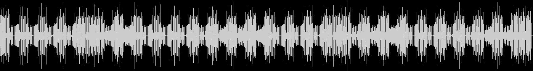 喋り動画用_ローテンポな電子ビートBGMの未再生の波形
