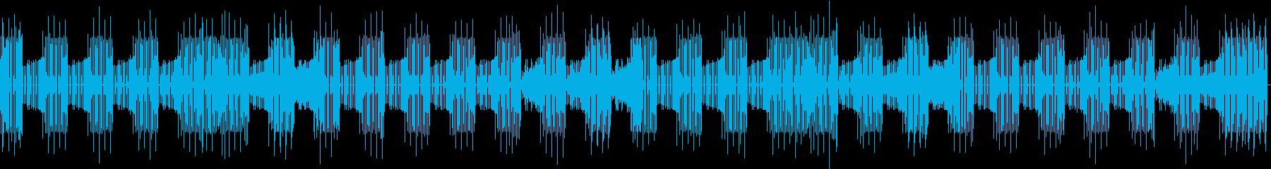 喋り動画用_ローテンポな電子ビートBGMの再生済みの波形