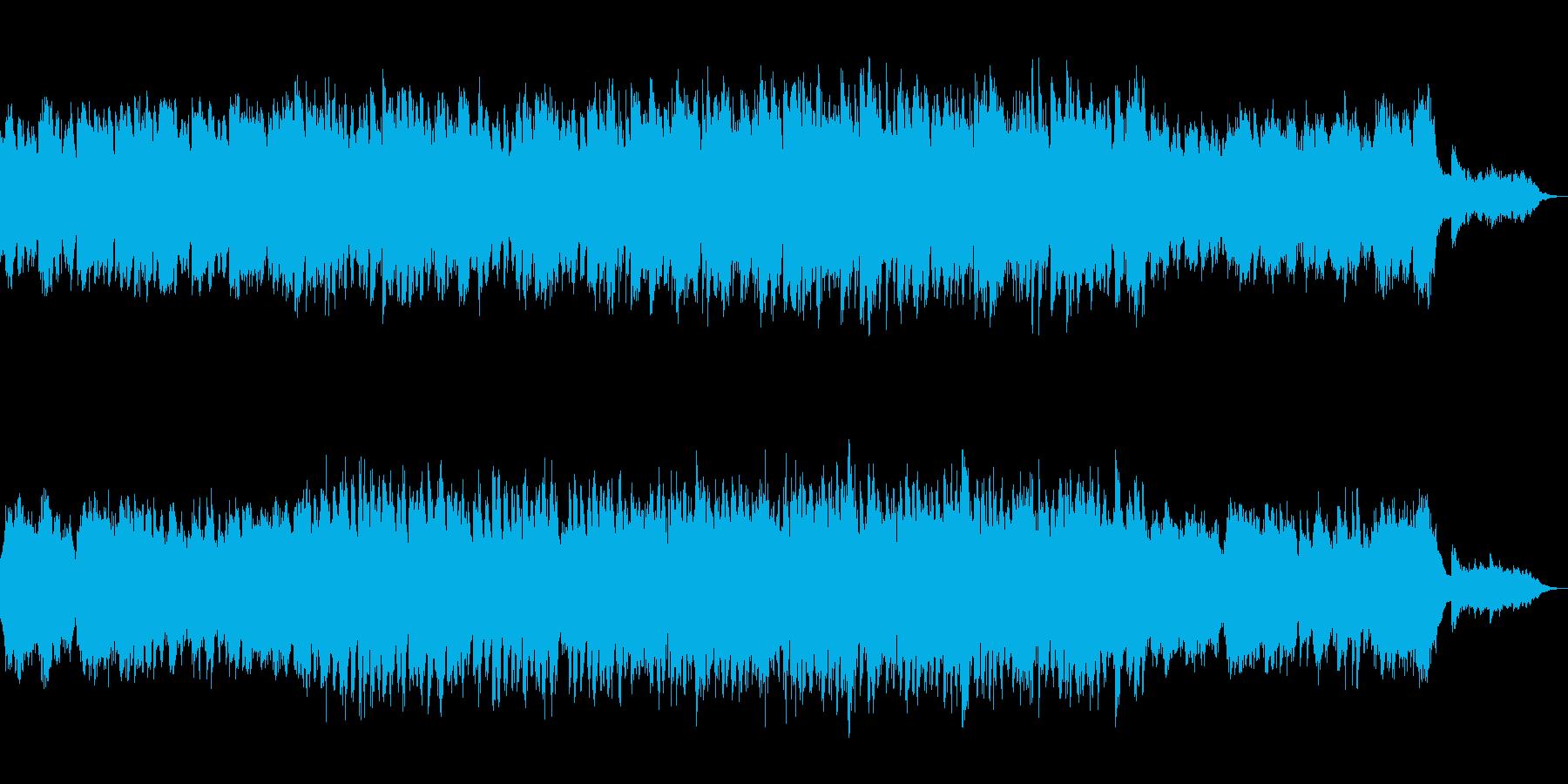 軽やかなピアノの演奏が印象的な楽曲の再生済みの波形
