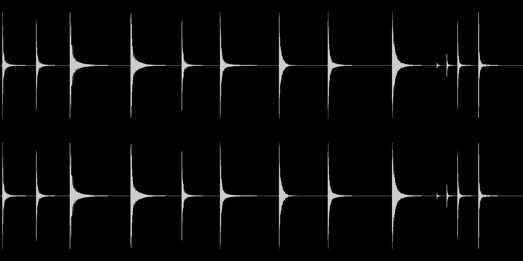 ヘビーシートメタルのいくつかのハン...の未再生の波形