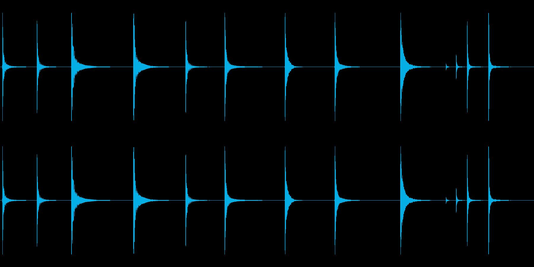 ヘビーシートメタルのいくつかのハン...の再生済みの波形