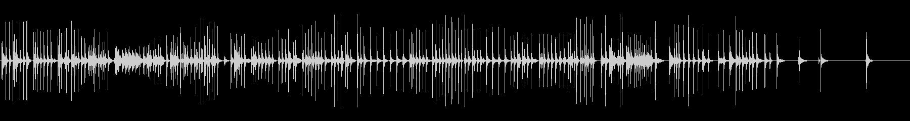 三味線119連獅子12獅子団乱旋二上り歌の未再生の波形
