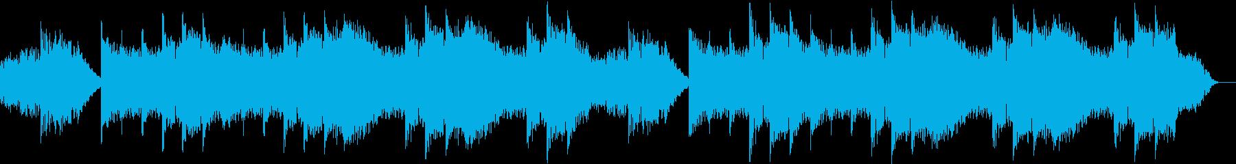 ヨガのBGMとして制作された安らぎ音楽の再生済みの波形
