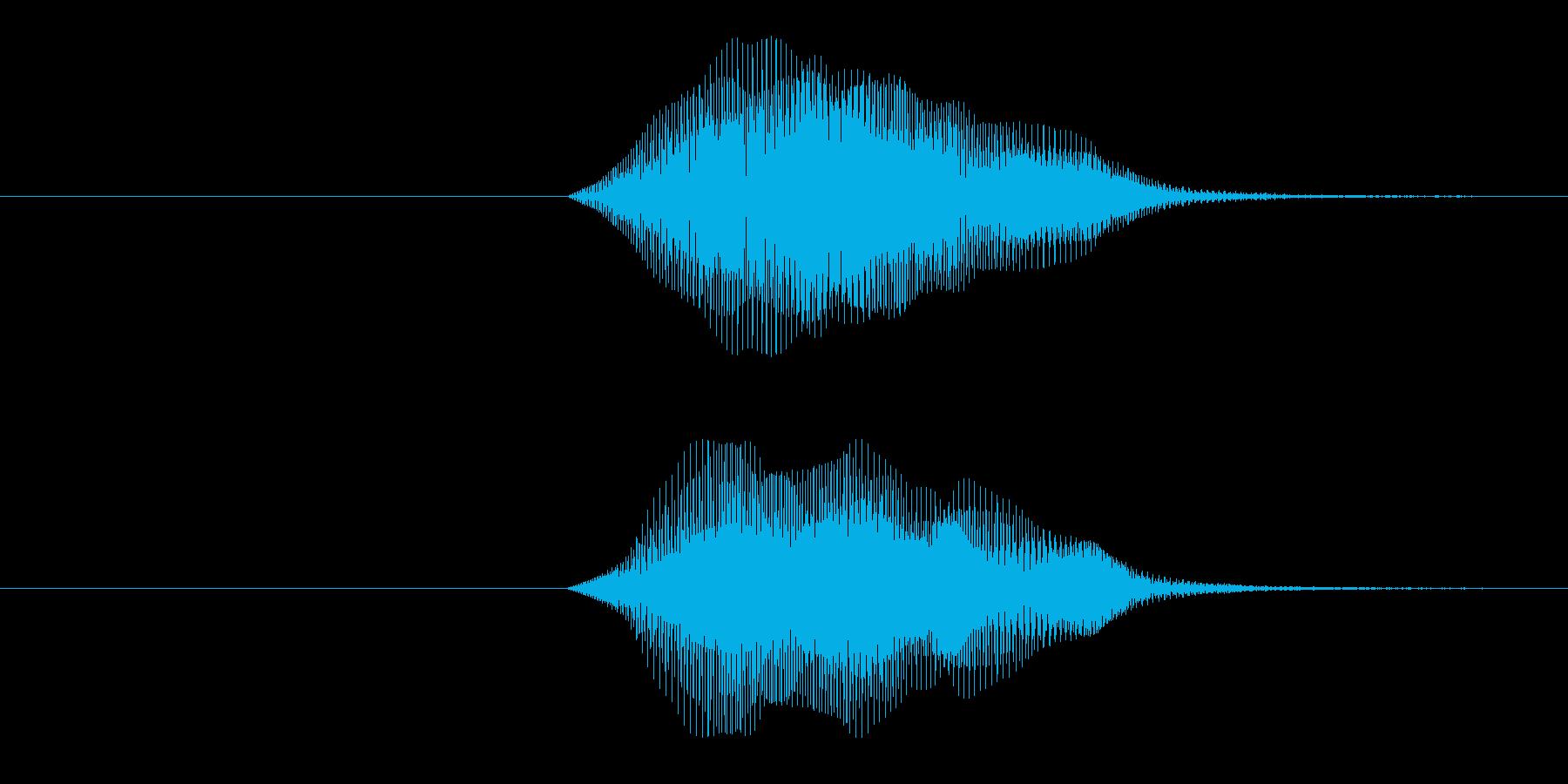 ビュワ〜!宇宙、SF風の再生済みの波形