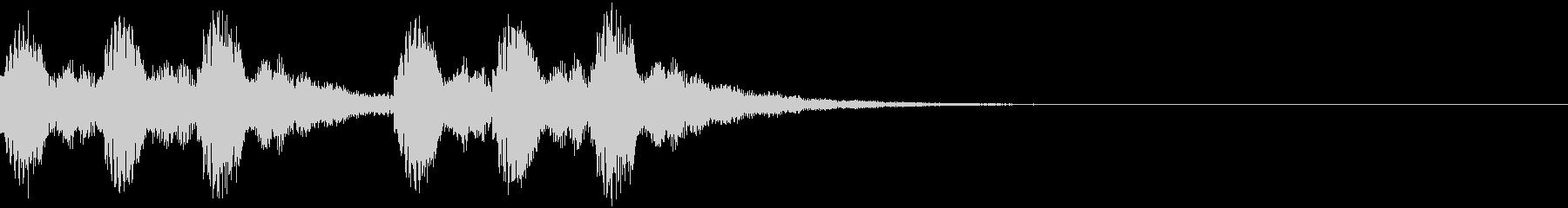 綺麗で印象的な着信・通知音5の未再生の波形