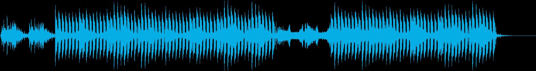 おしゃれなEDMジングルの再生済みの波形
