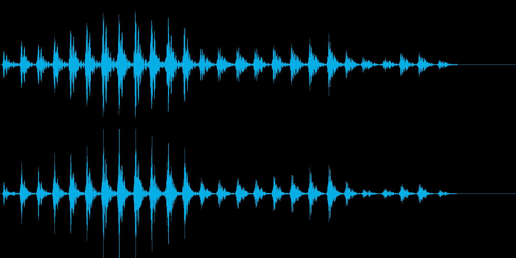 トンカチの音01の再生済みの波形