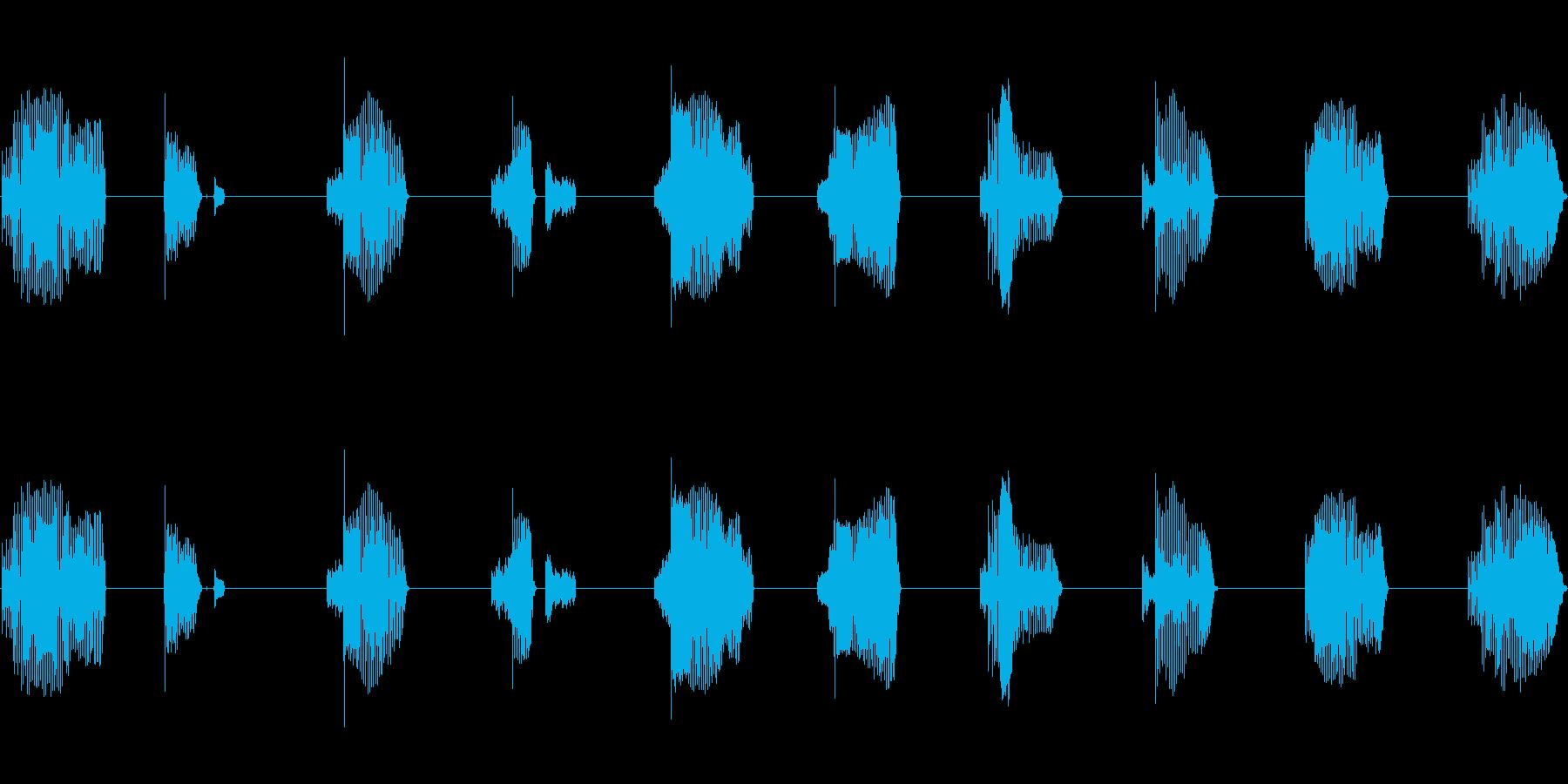 ロボ声 9からカウントダウンの再生済みの波形