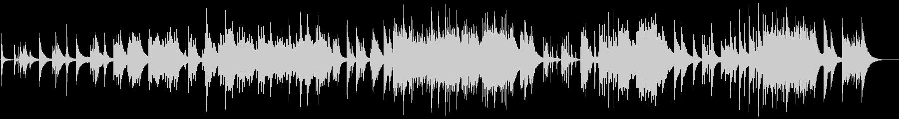 ゆったりとしたピアノソロのバラードの未再生の波形