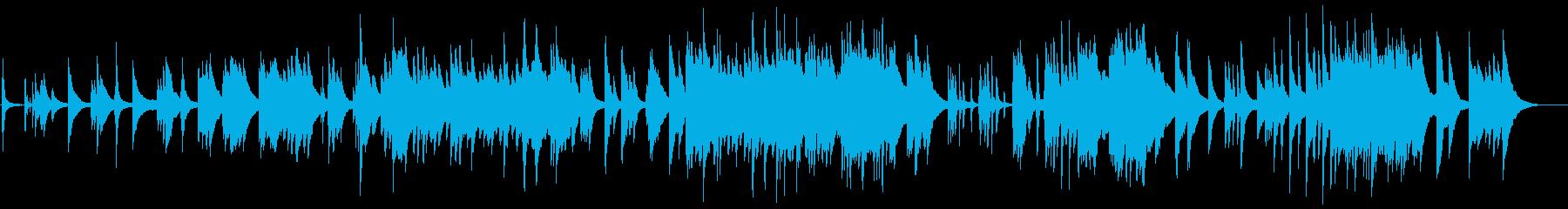 ゆったりとしたピアノソロのバラードの再生済みの波形