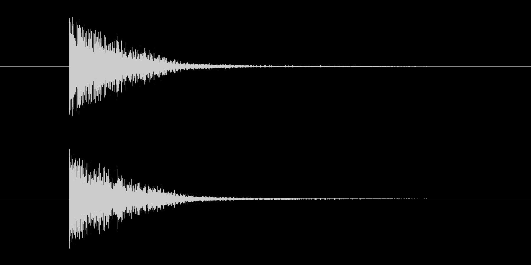中世 ブロックメタル小01の未再生の波形