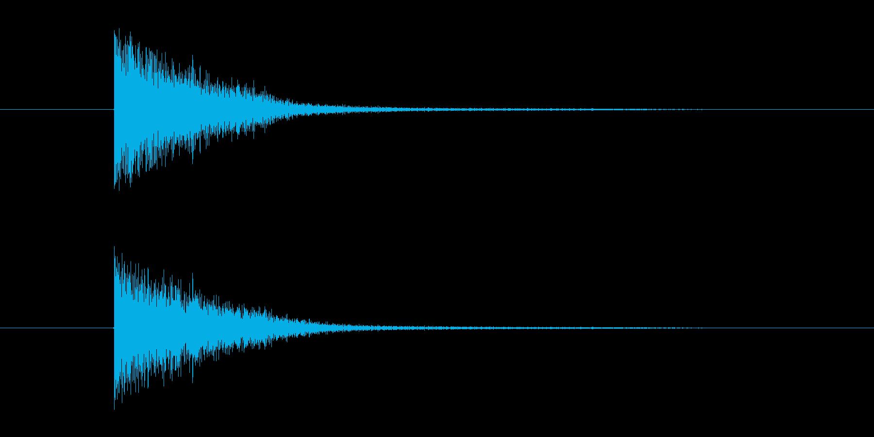 中世 ブロックメタル小01の再生済みの波形