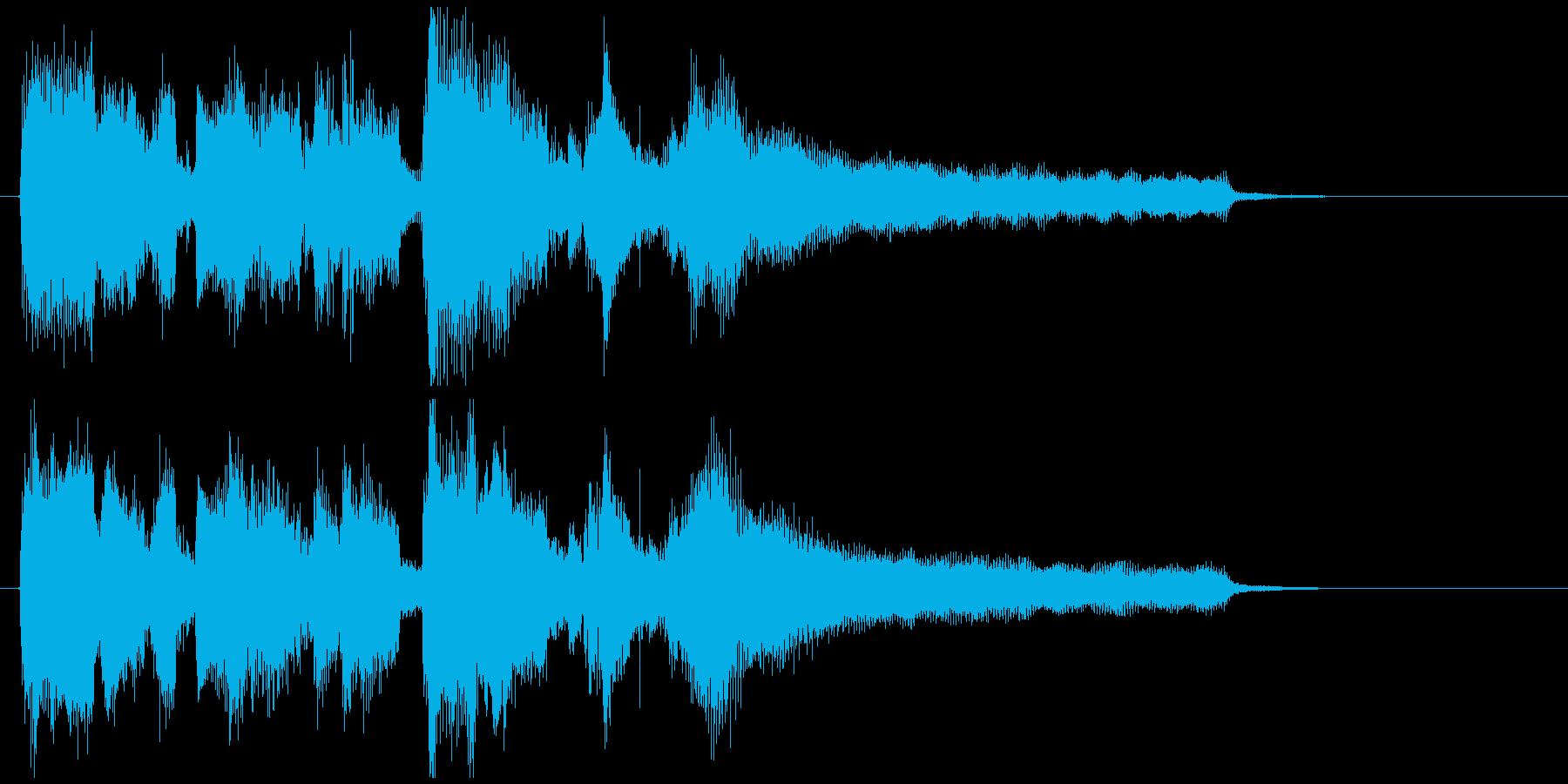嬉しい気分なスイング感のジャズ系ジングルの再生済みの波形