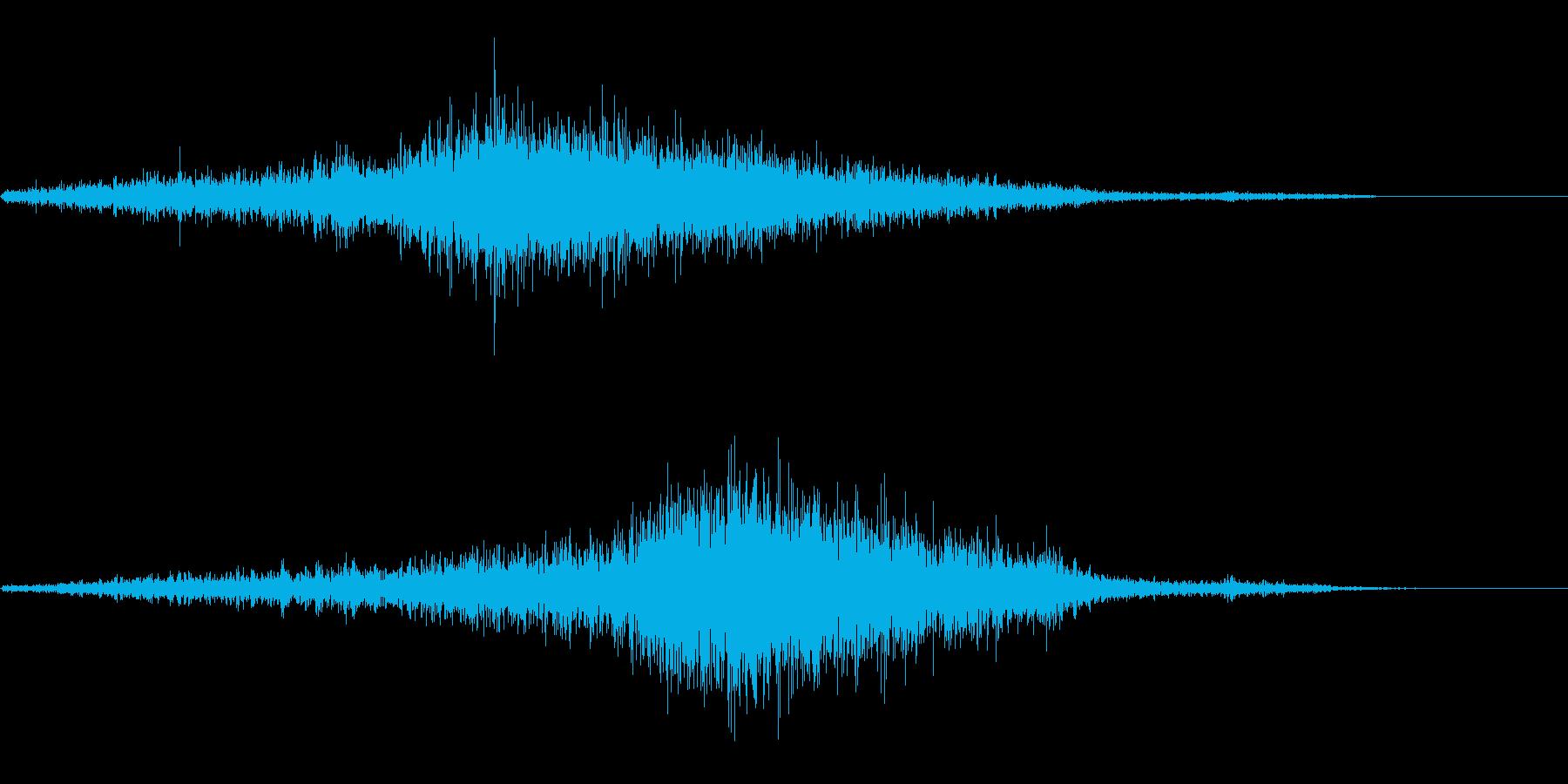 シュシュシュ(巻き尺)の再生済みの波形