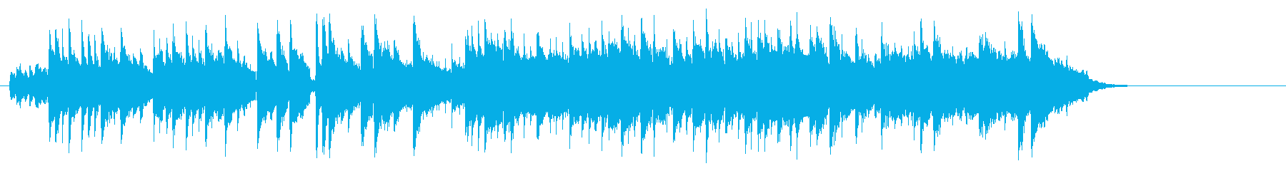 穏やかな朝の安らぎの情報向けポップBGの再生済みの波形