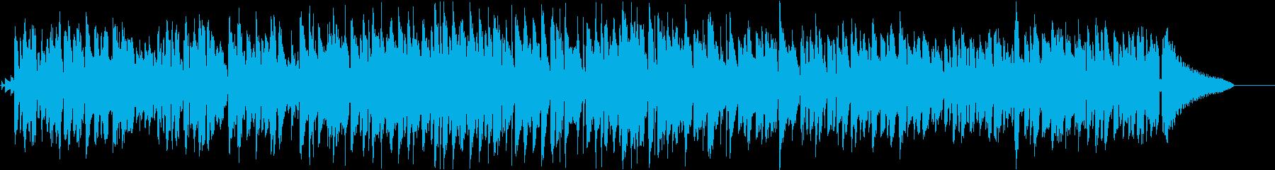 暖かい映像に合うゆったりした曲の再生済みの波形