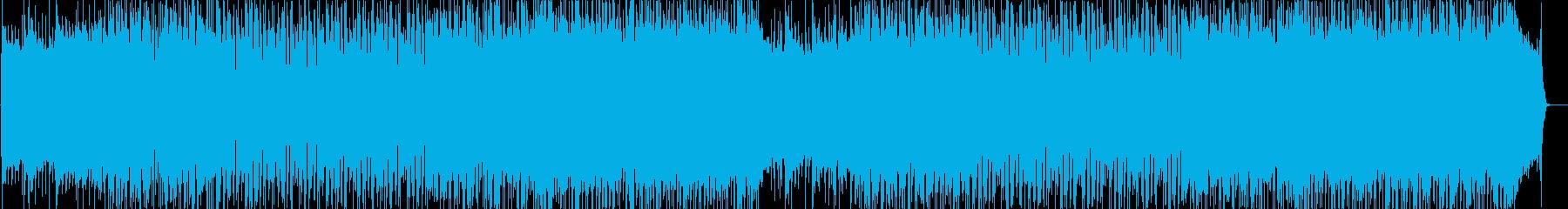 オーソドックスでシンプルなハードロックの再生済みの波形